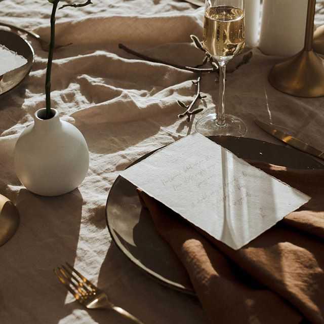 Beautiful shot from the @wild_hearts  styled shoot with our *Sand* Tablecloths and *Leather* Napkins 😍😍😍Photography @sophieisabellaphoto | Venue @ilexbotanicgardens | Styling @underthewildstars | Gown @brooketysonritual Jewels @meadowlarkjewellery | Grooms-wear @barkersclothing | Florals @mrsbottomleysflowers | Makeup @staceybanfieldmakeup | Hair @danielle_hall_hairstyling | Bamboo Table @trulyyours_events | Linen @tble.linen.hire | Cake @thecakeeatingco | Plates & Glassware @abode_homeware | Stationery @_smittenwithlove | Models @michaelee_mcdonald & Daniel from @portfoliomodelagency | Set up Assistants Sophie + Bridie