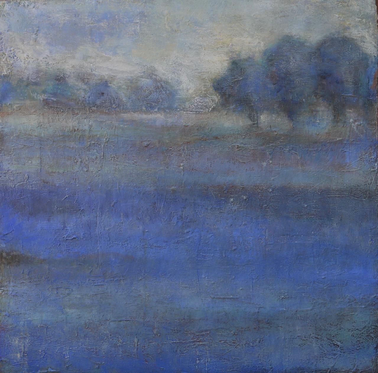 """fields of blue  36"""" x 36"""""""