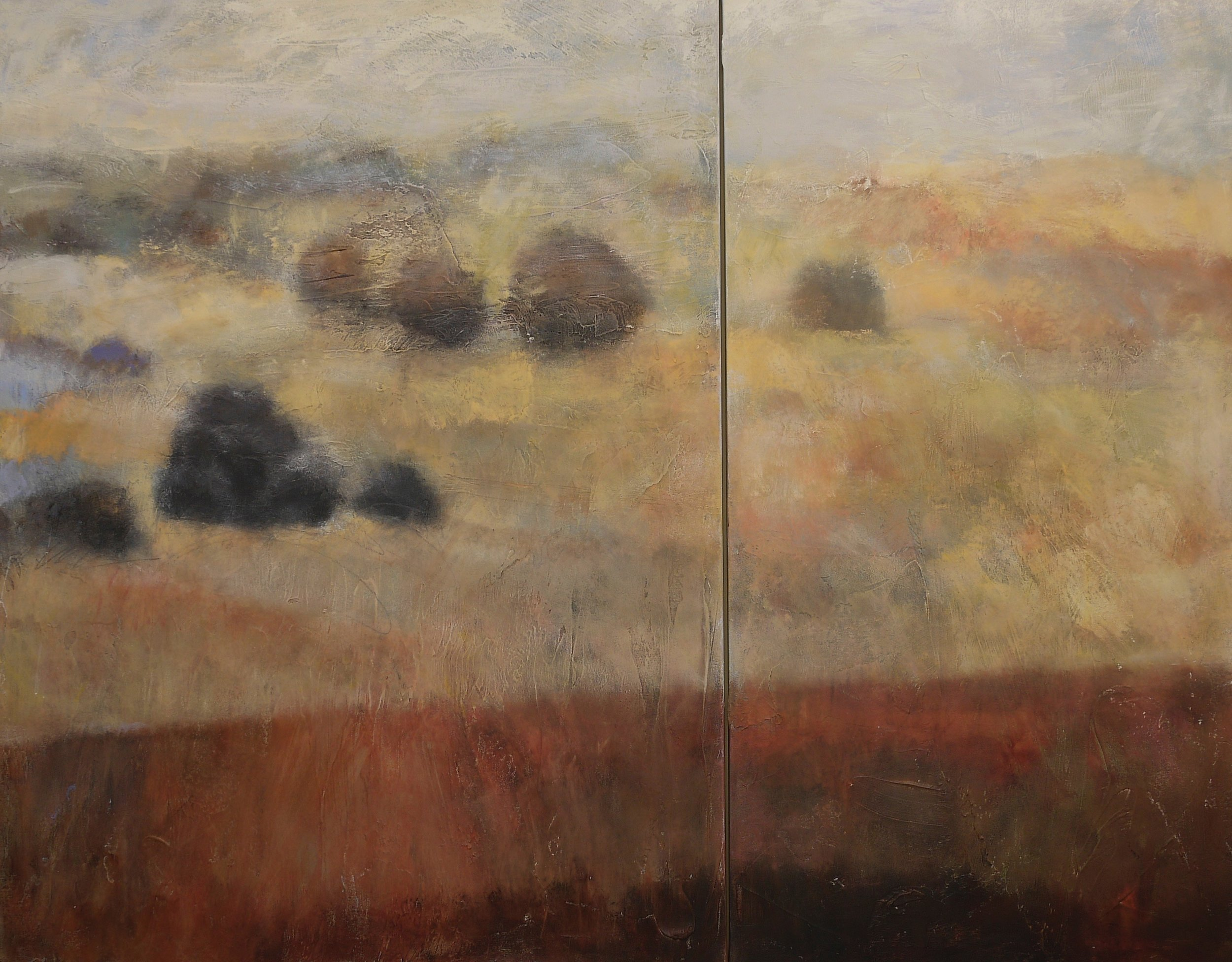 """a feeling within 48"""" x 60"""" Diptych"""