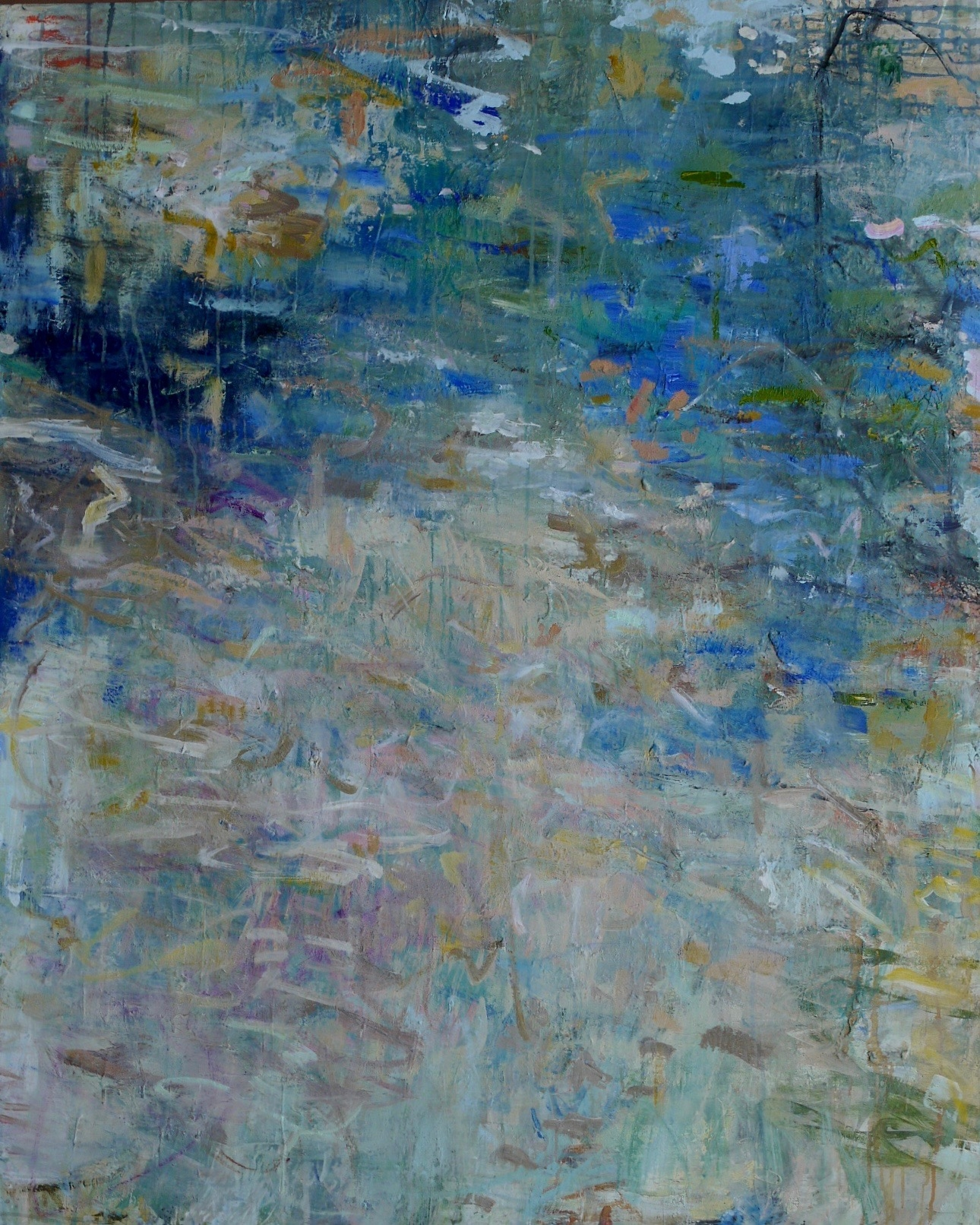 "leaves in the water 60"" x 48"""