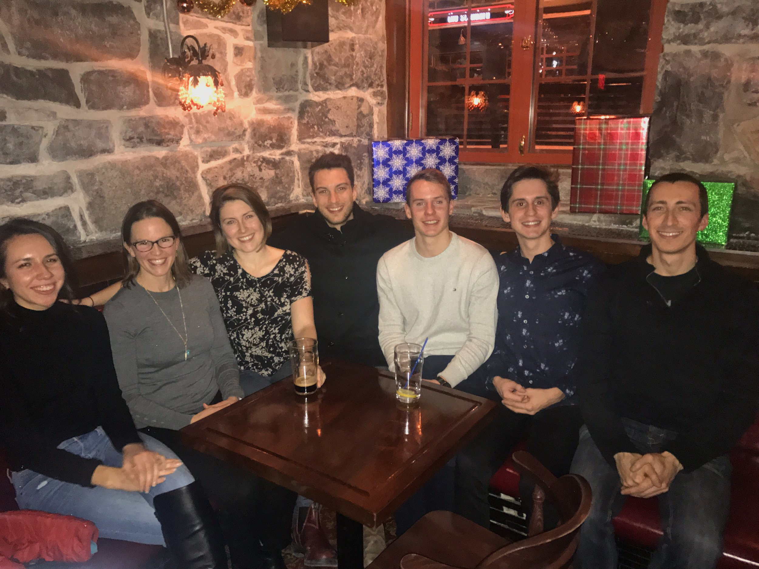December 2017. Left to Right: Rebecca, Alison, Amanda, Nik, Kevin, Keith, and Mark