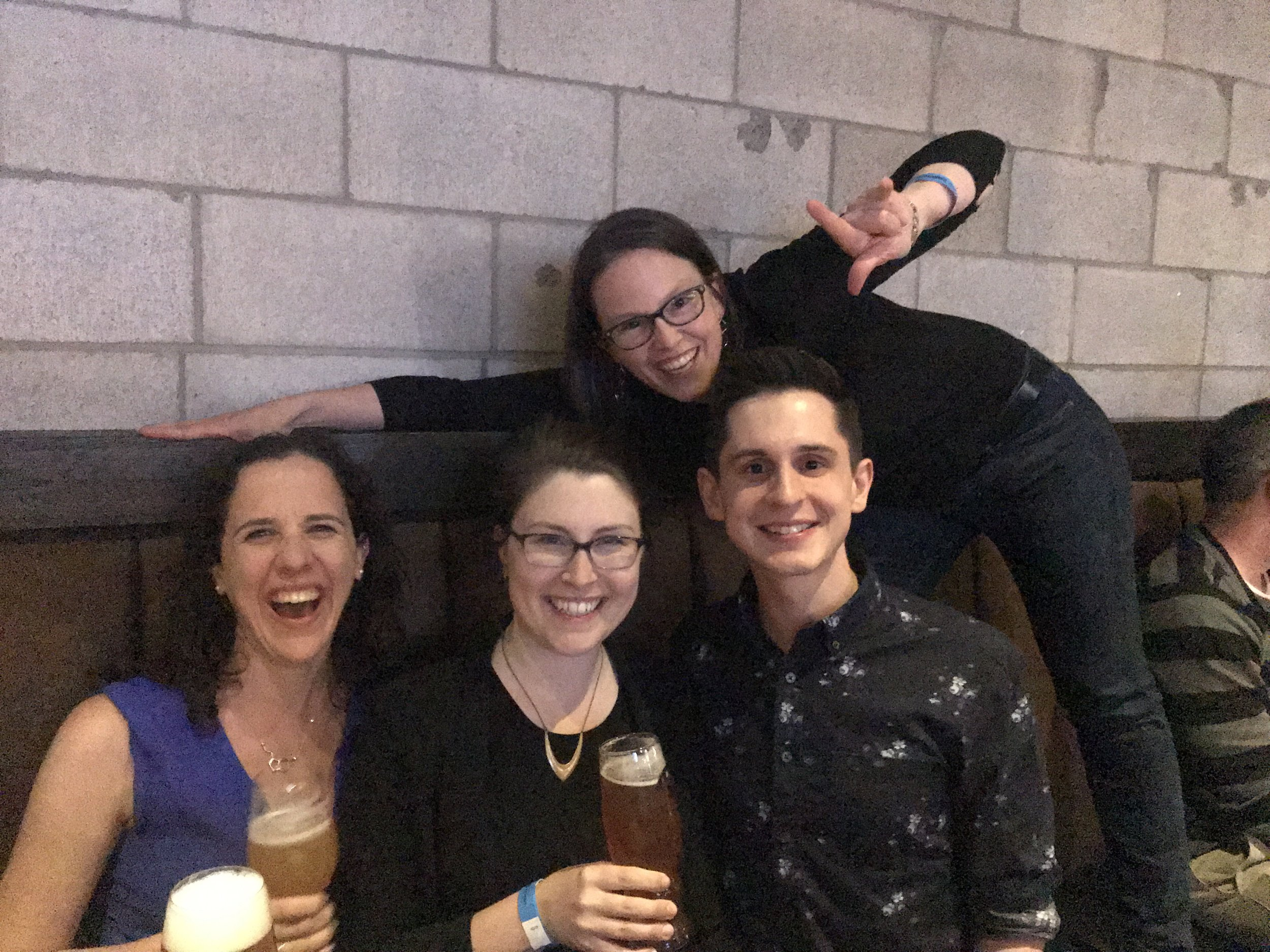 Myriam, Amanda,Keith, and Alison celebrating a great week of presentations at the 101st Canadian Chemistry Conference and Exhibition!