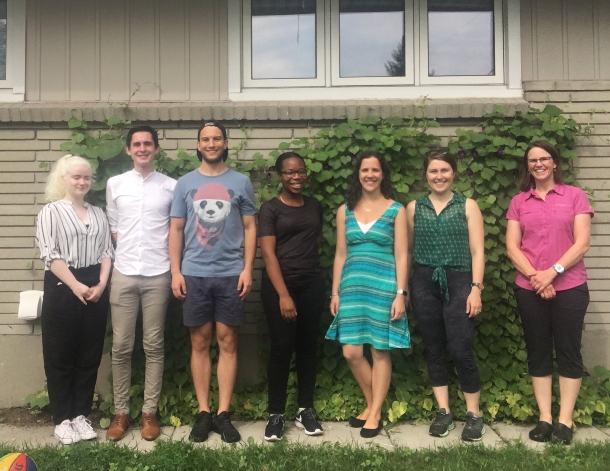 Group Retreat 2018! Left to right: Océanne, Keith, Nik, Berthorie, Myriam, Amanda, and Alison