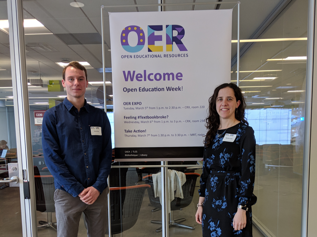 Myriam and Kevin Presented at the OER/REL Expo — Flynn Research Group