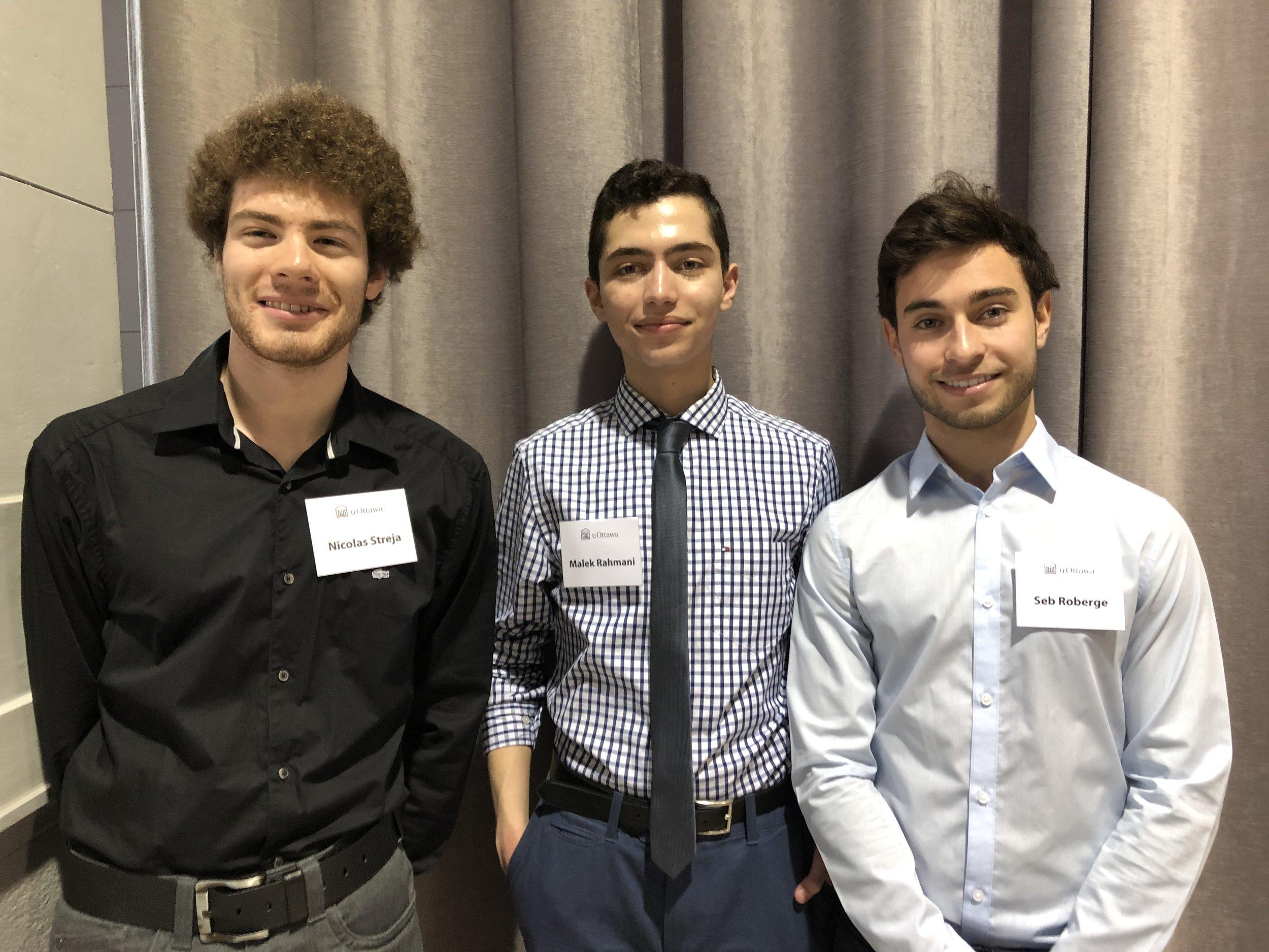Nick, Malek, and Seb