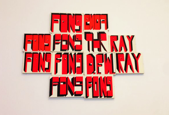 Proximities 2. Barry McGee.  Untitled, 2012  , 2012; acrylic on wood; dimensions variable. Courtesy of the Artist and Ratio 3.