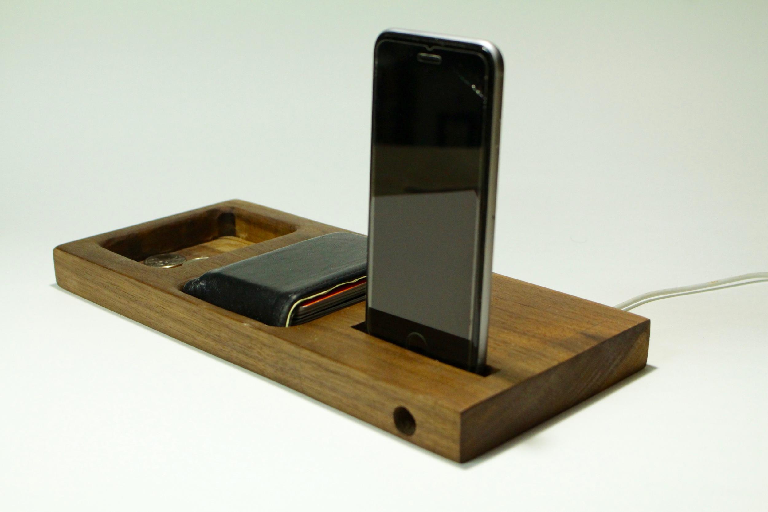 Bedside Phone Dock Valet