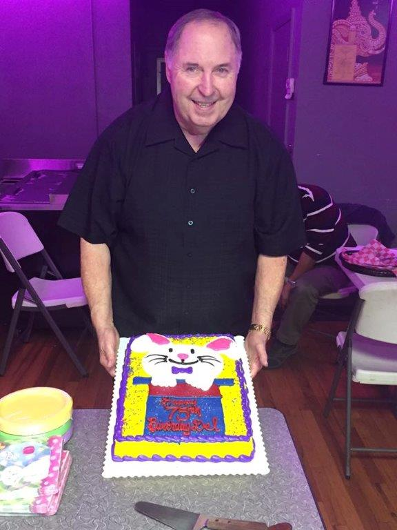 Del Wilson celebrating his latest birthday with members of the Tulsa FCM.