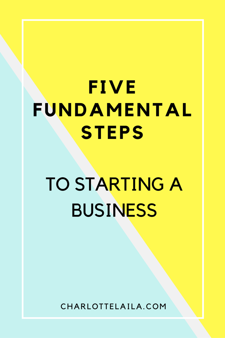 five steps to starting a business
