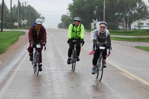 Riding in the rain from Lignite to Crosby