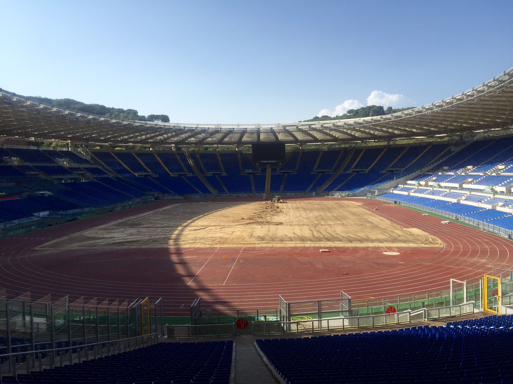 The Stadio Olimpico on a hot July afternoon