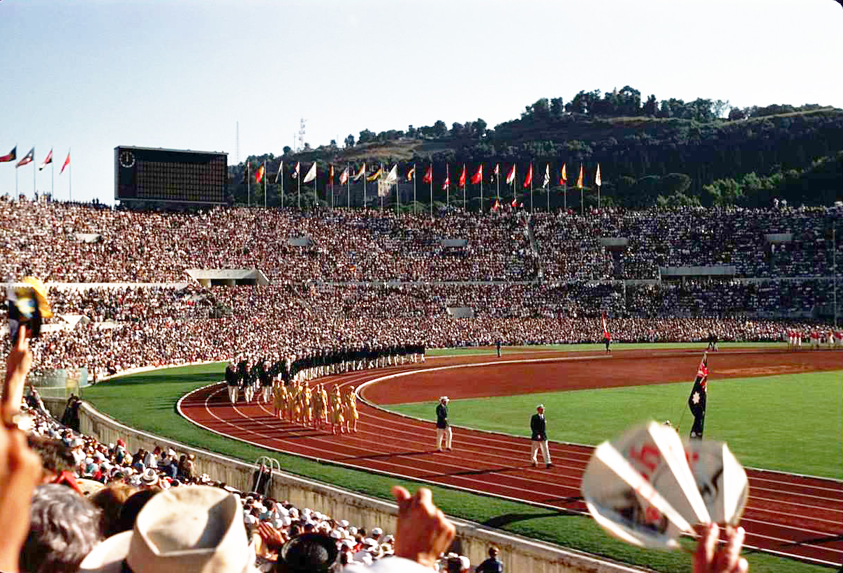The Opening Ceremony of the 1960 Olympics in Rome's Stadio Olimpico.