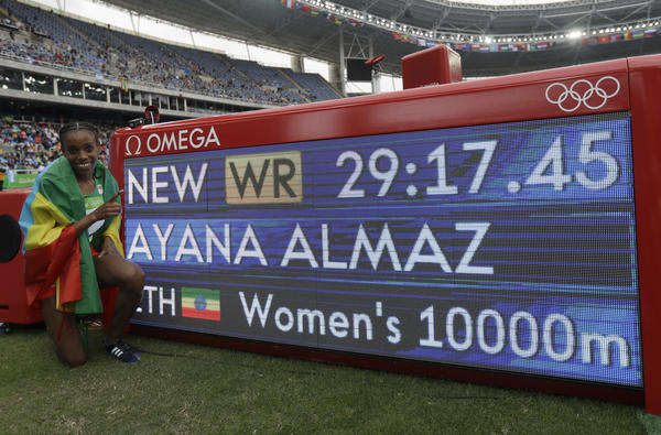 (Matt Slocum / Associated Press)   Almaz Ayana of Ethiopia crushed the standing world record by more than :14.