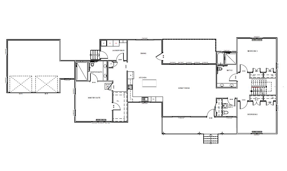 Modern farmhouse floorplan (first floor only)