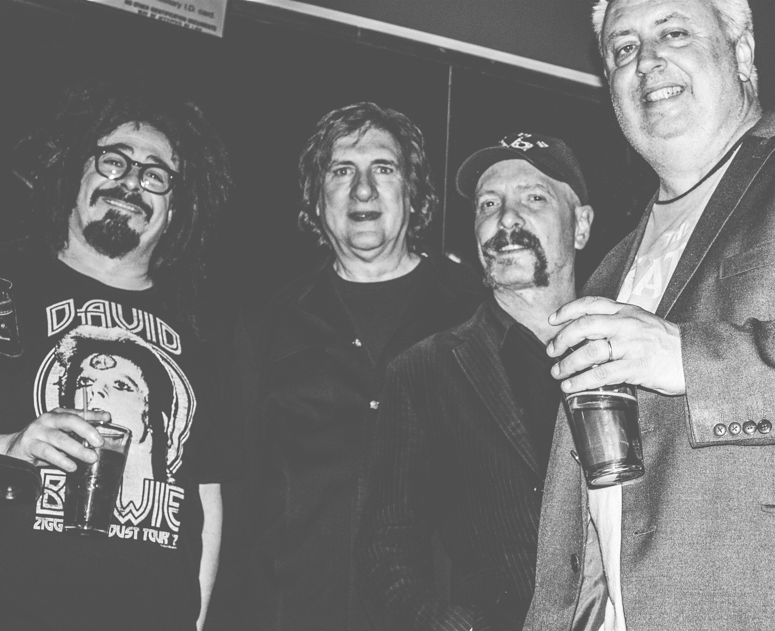 With Adam Duritz, Sal Maida and Frank Funaro after a show in NYC