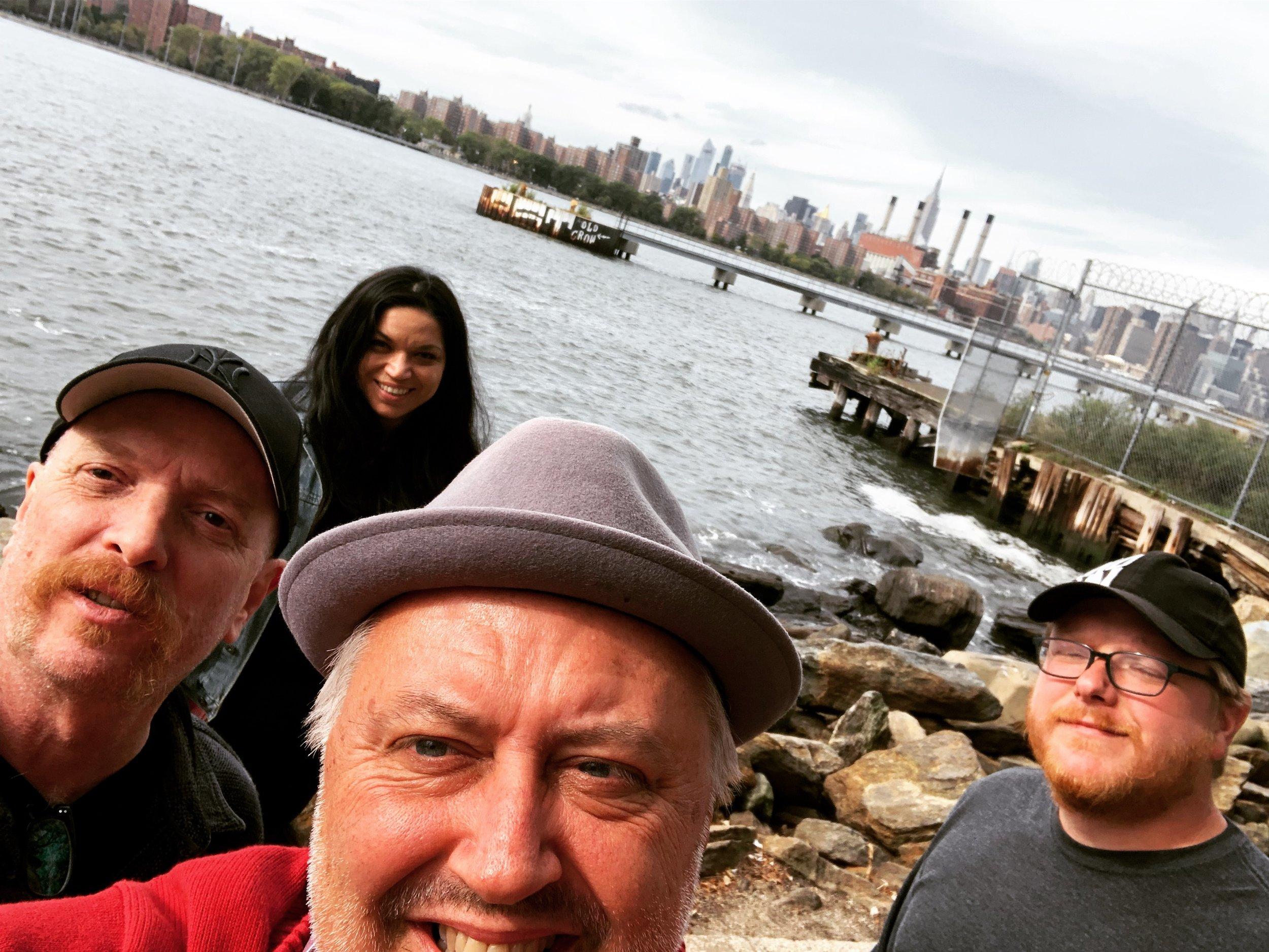 L-R: Fank Funaro, Hils Lopez, Brick Briscoe, AJ Casey in Williamsbug, Brooklyn