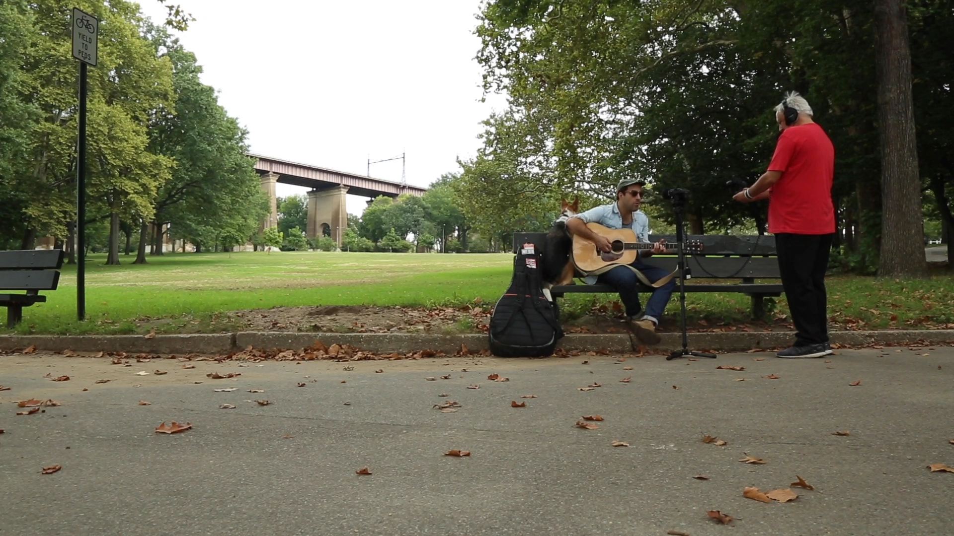 Brick with Matt Sucich in Astoria Park in Queens.