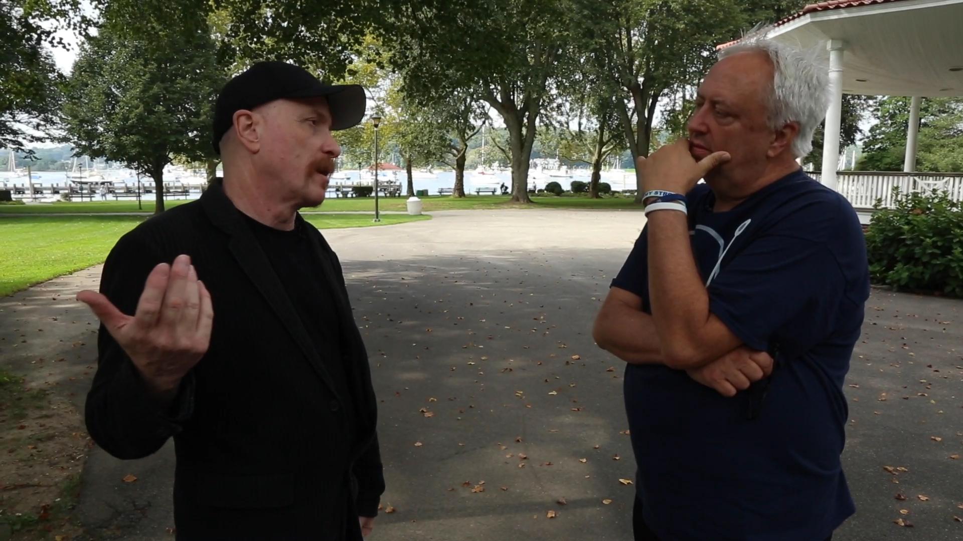 Frank Funaro and Brick Briscoe in Northport, Long Island