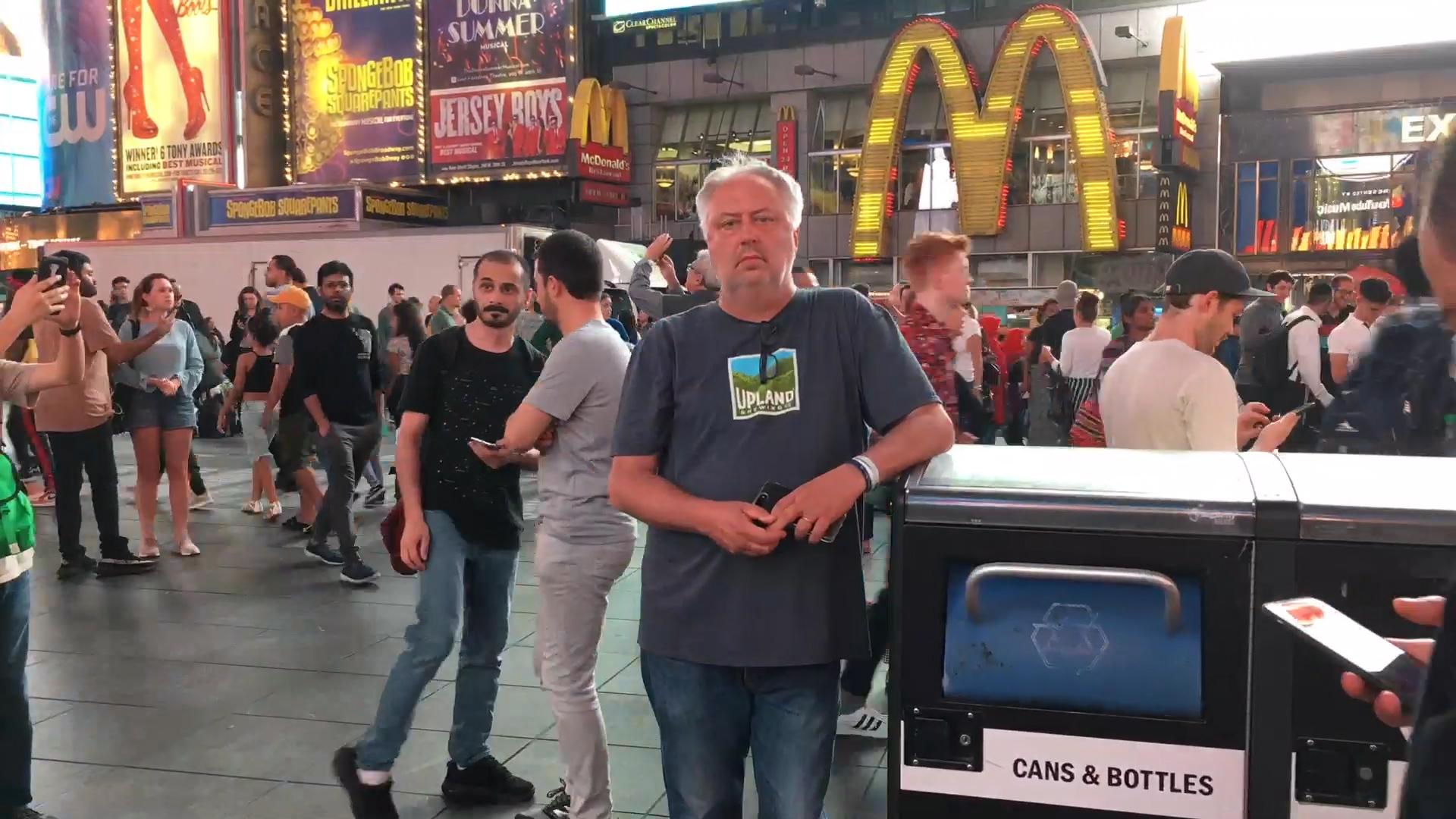 Brick Briscoe in Times Square