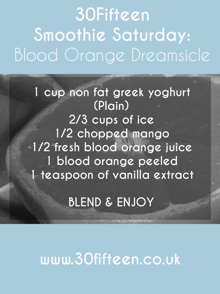 BLOOD ORANGE DREAMSICLE SMOOTHIE RECIPE FROM 30FIFTEEN
