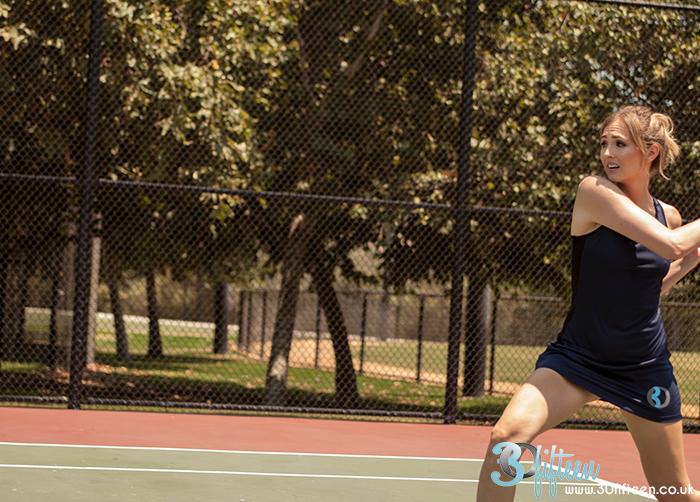 30Fifteen Cleo Tennis Dress Navy Tennis Court.jpg
