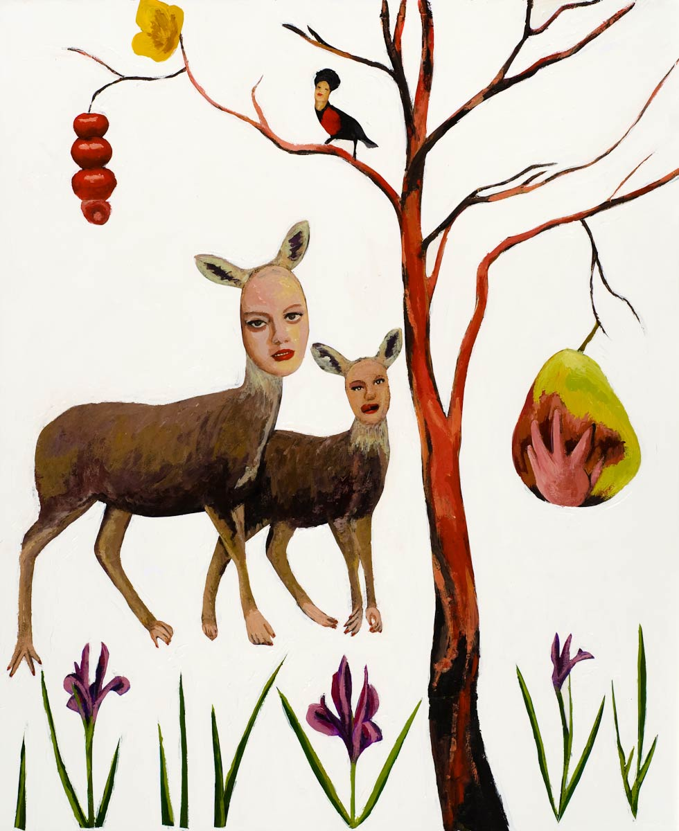 Deer and a Tree