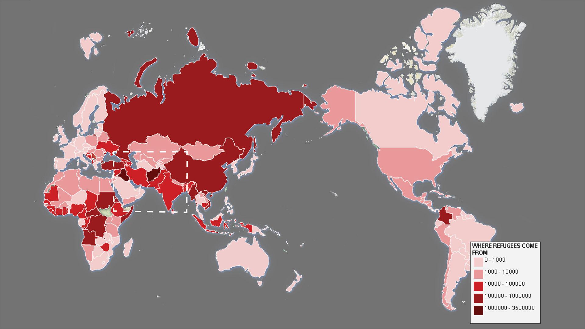 Fig. 2, The UN Refugee Agency (UNHCR) 2011 data