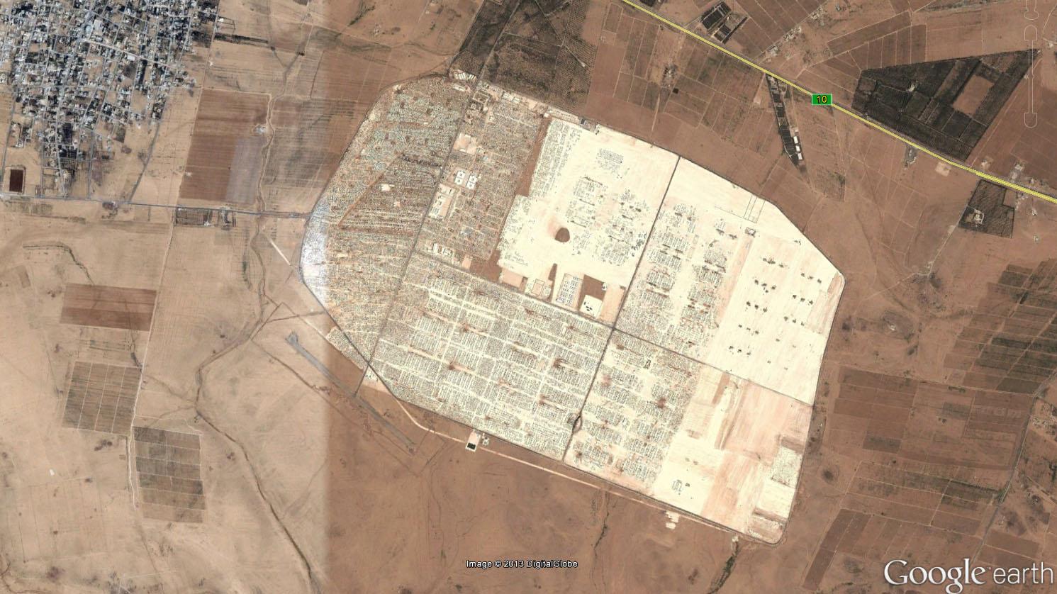 Fig. 5, UNHCR Zaatari Camp (مخيم الزعتري), Jordan, 2013