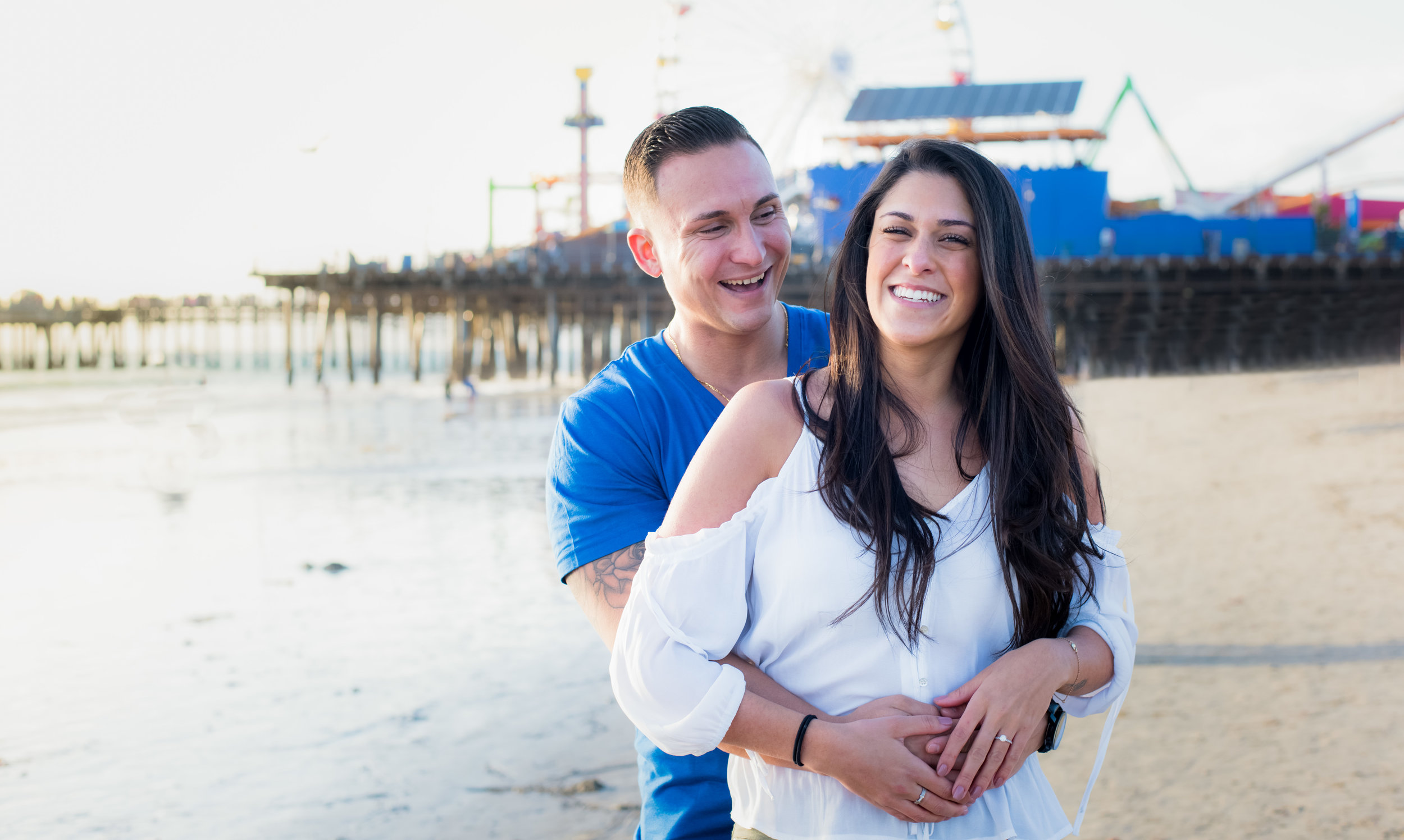 Monica Linda Photography, santa monica beach proposal engagement