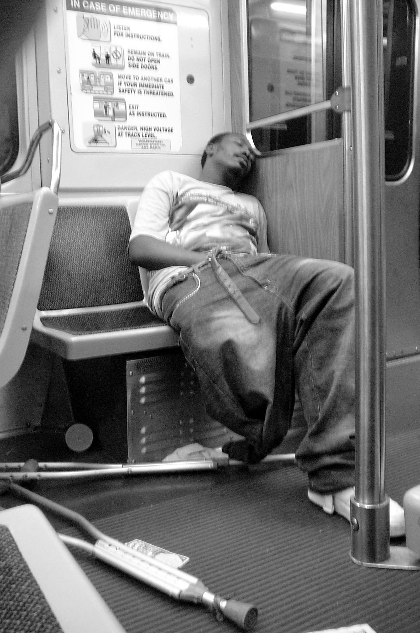 Melina Paez Chicago 2005 Man on Train.jpg
