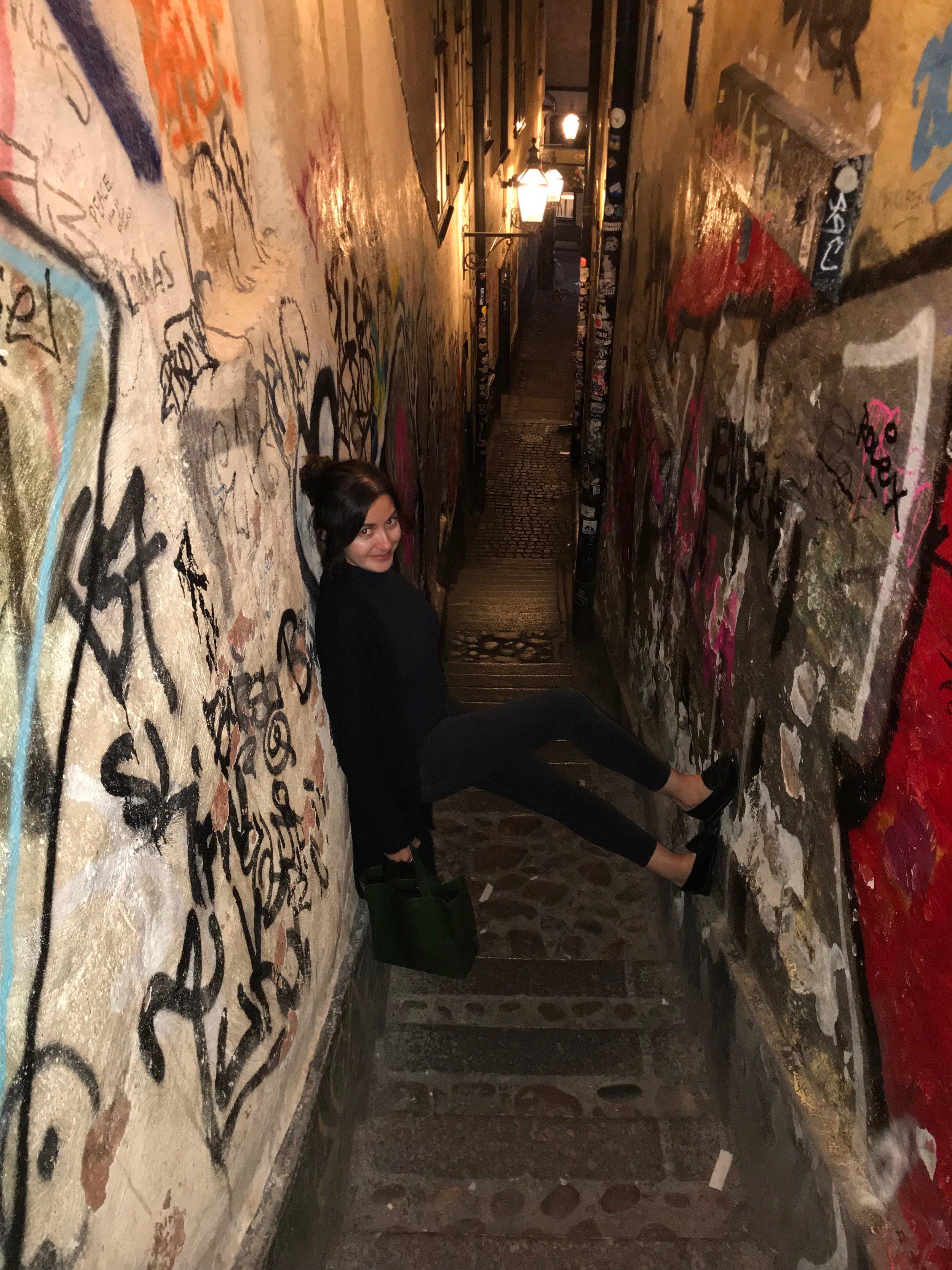 Gamla Stan's most narrow walkway.
