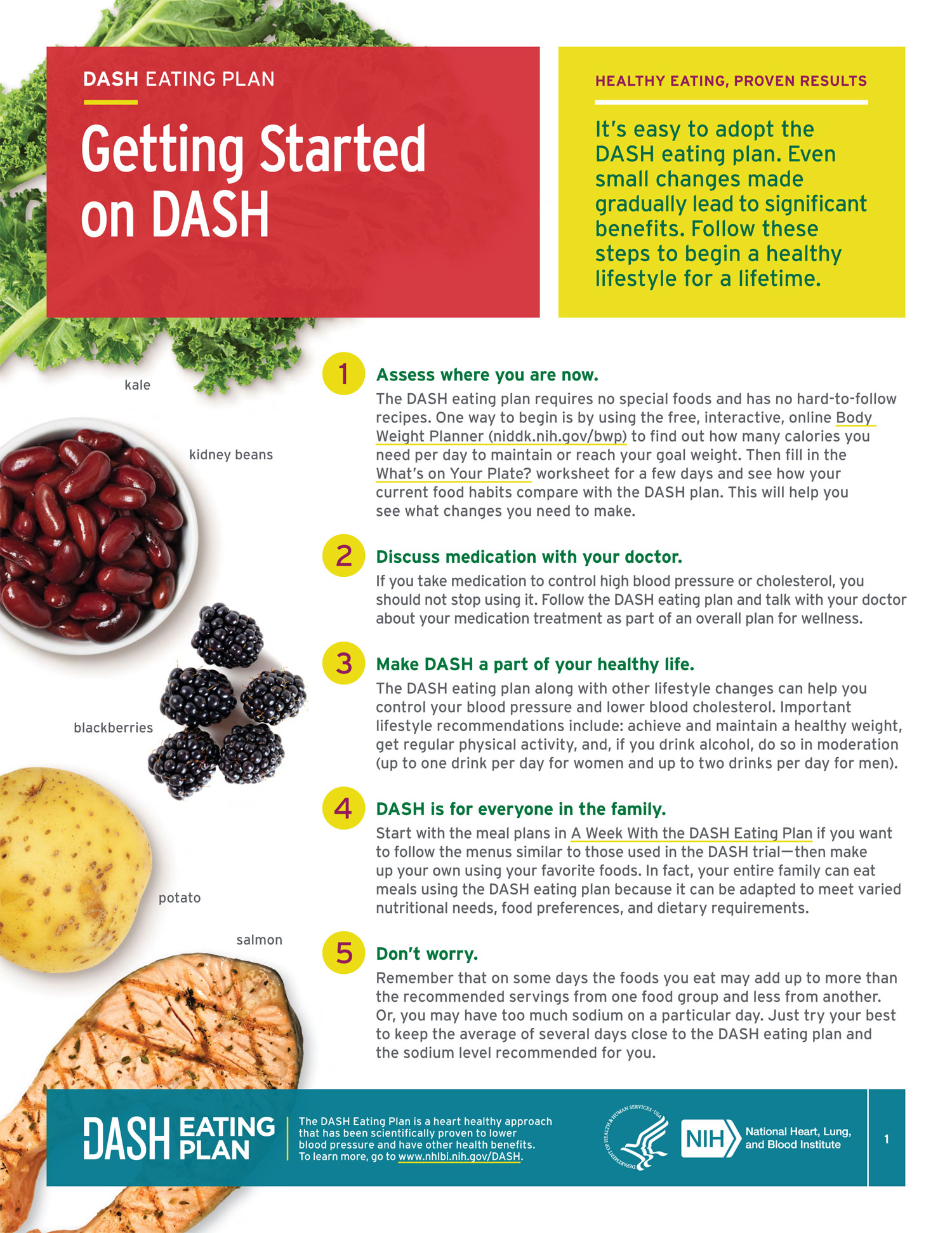 Getting Started on the DASH Eating Plan - Available to download on NIH website.