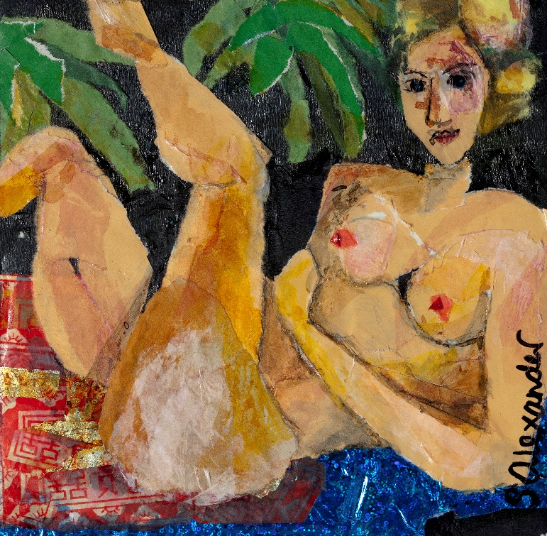 Tissue Paper Nudes - Matisse, Monet and Modigliani all paid homage to Ingres's famous Odelisque and so can we. In ONE day we will complete a small canvas using the mindful practice of collage finished with a glossy coating.Saturday TBA JUNE 8 places only