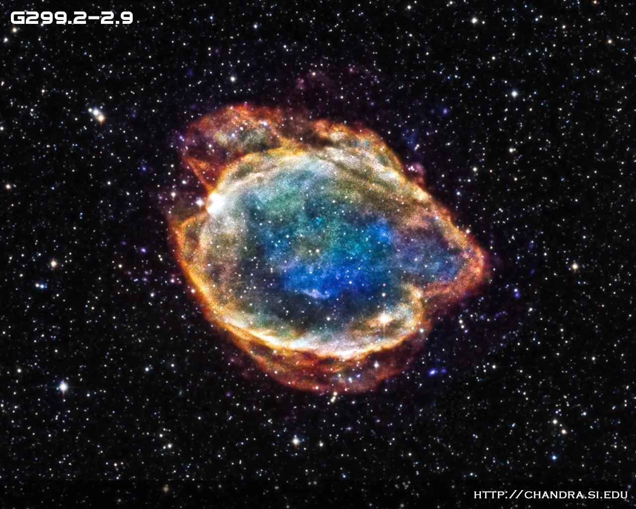 Nasa image of a real supernova called G299 .