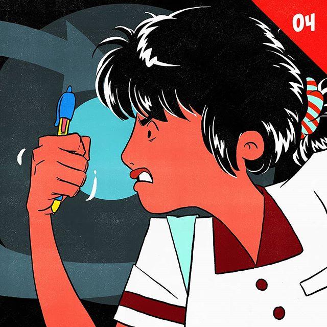 "04/24. ""Don't give up!"" . . D...de ja vu? How obstinate can she be? . . Part of an experimental set of illustration. Visit profile to follow along 🙌 . . . #comic #experimentalcomics #characterillustration #manga #indiecomics #digitalart #digitalcomics #characterart #webcomic #comicpanel #artistsoninstagram #artistsofinstagram #art #digitalart #drawing"