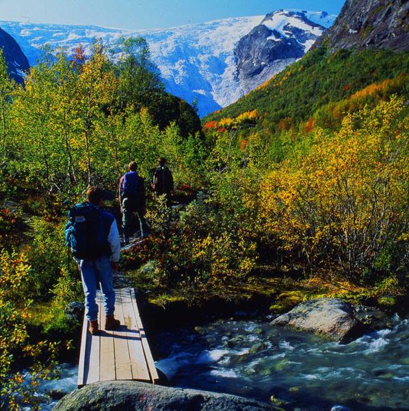 På tur til Bergsetbreen