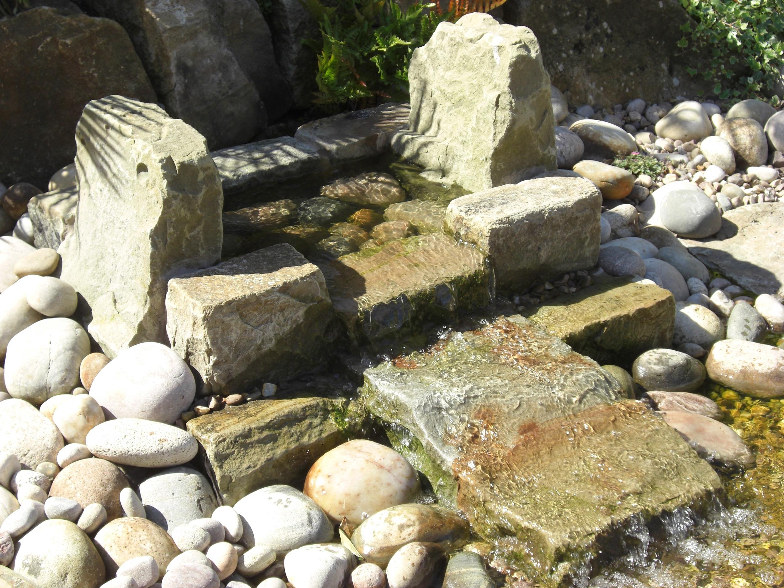 Natural stone stream