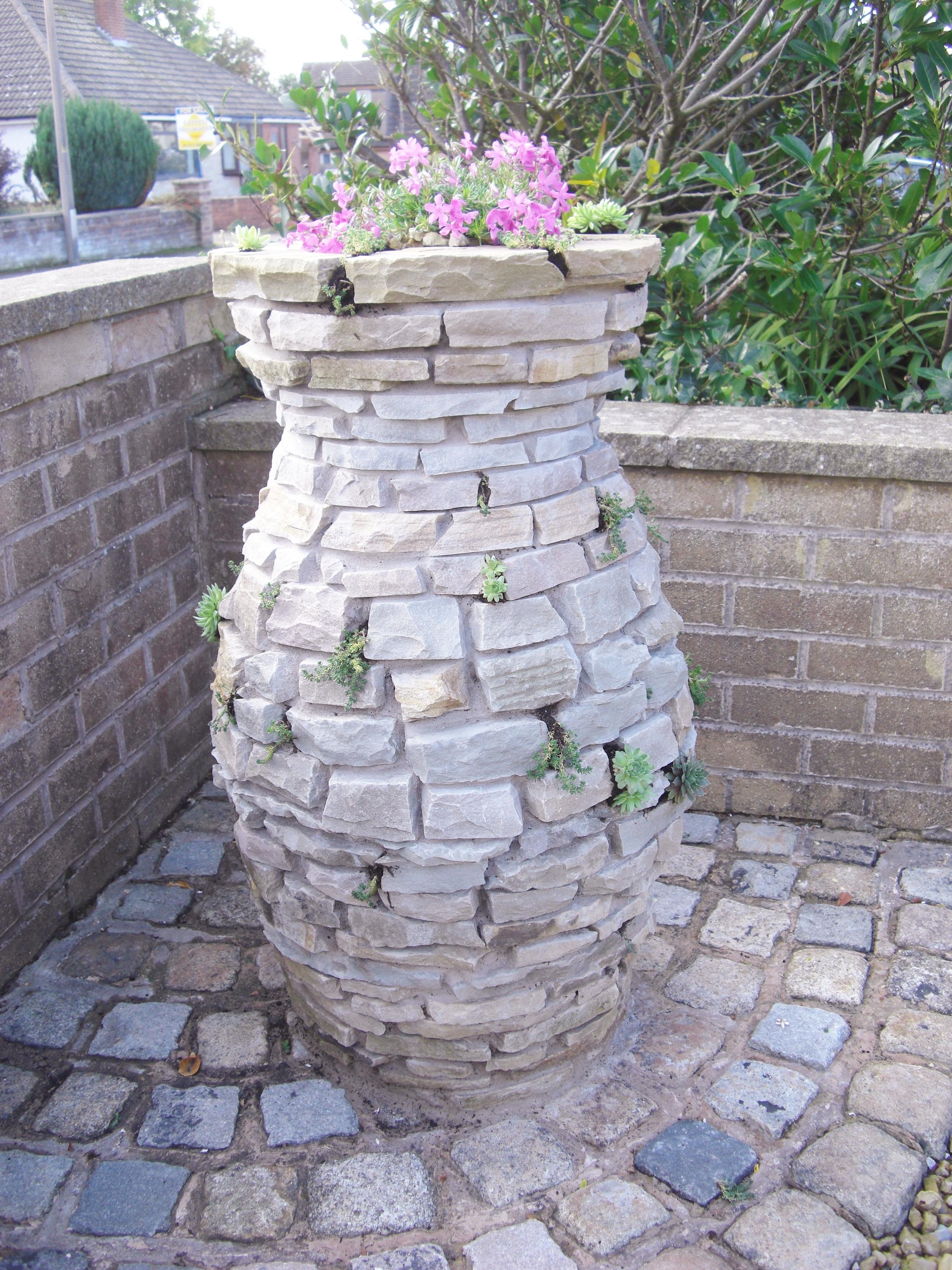 Custom-made stone urn