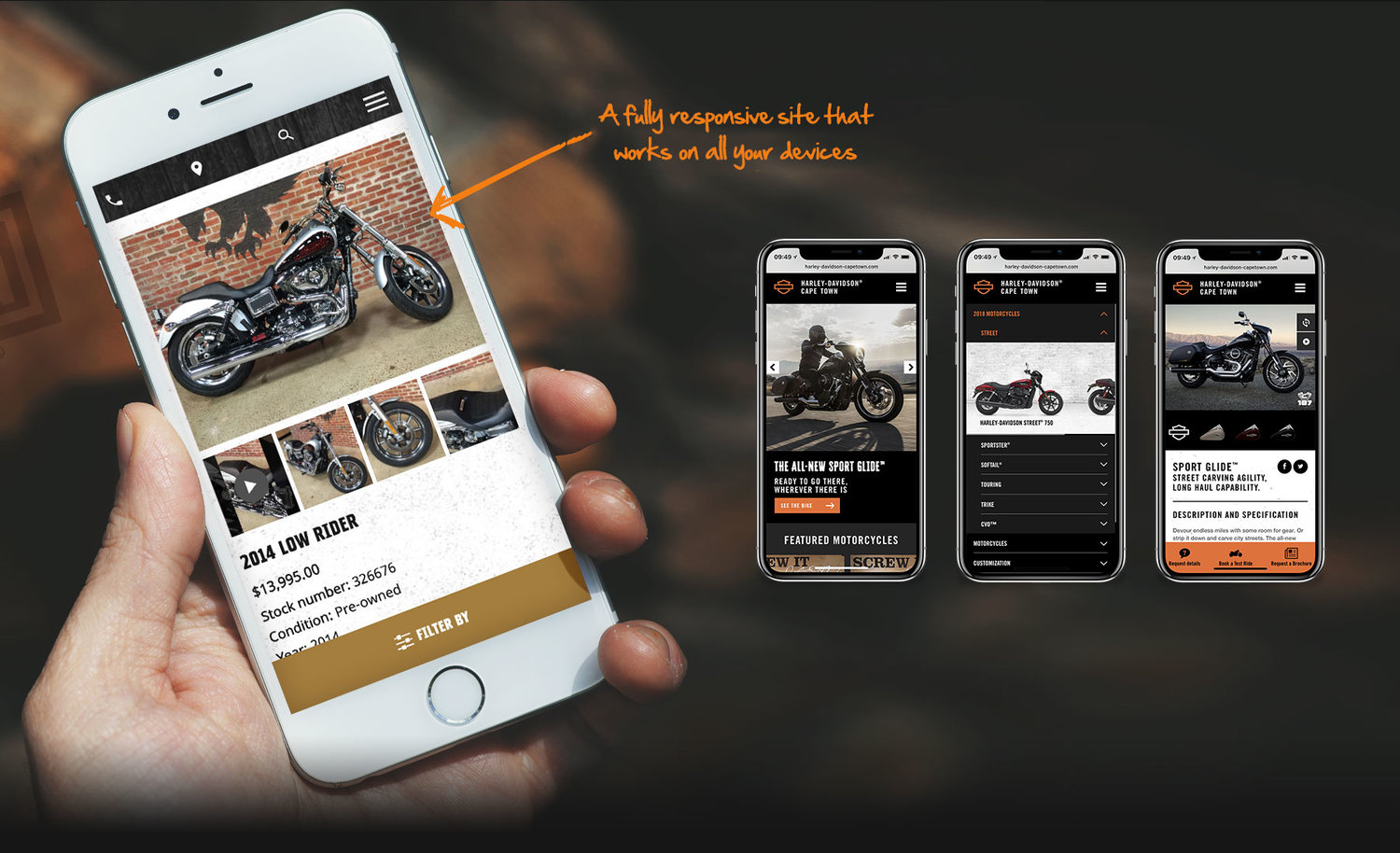 Genuine Harley-Davidson® Dealer website solution - Morillian®