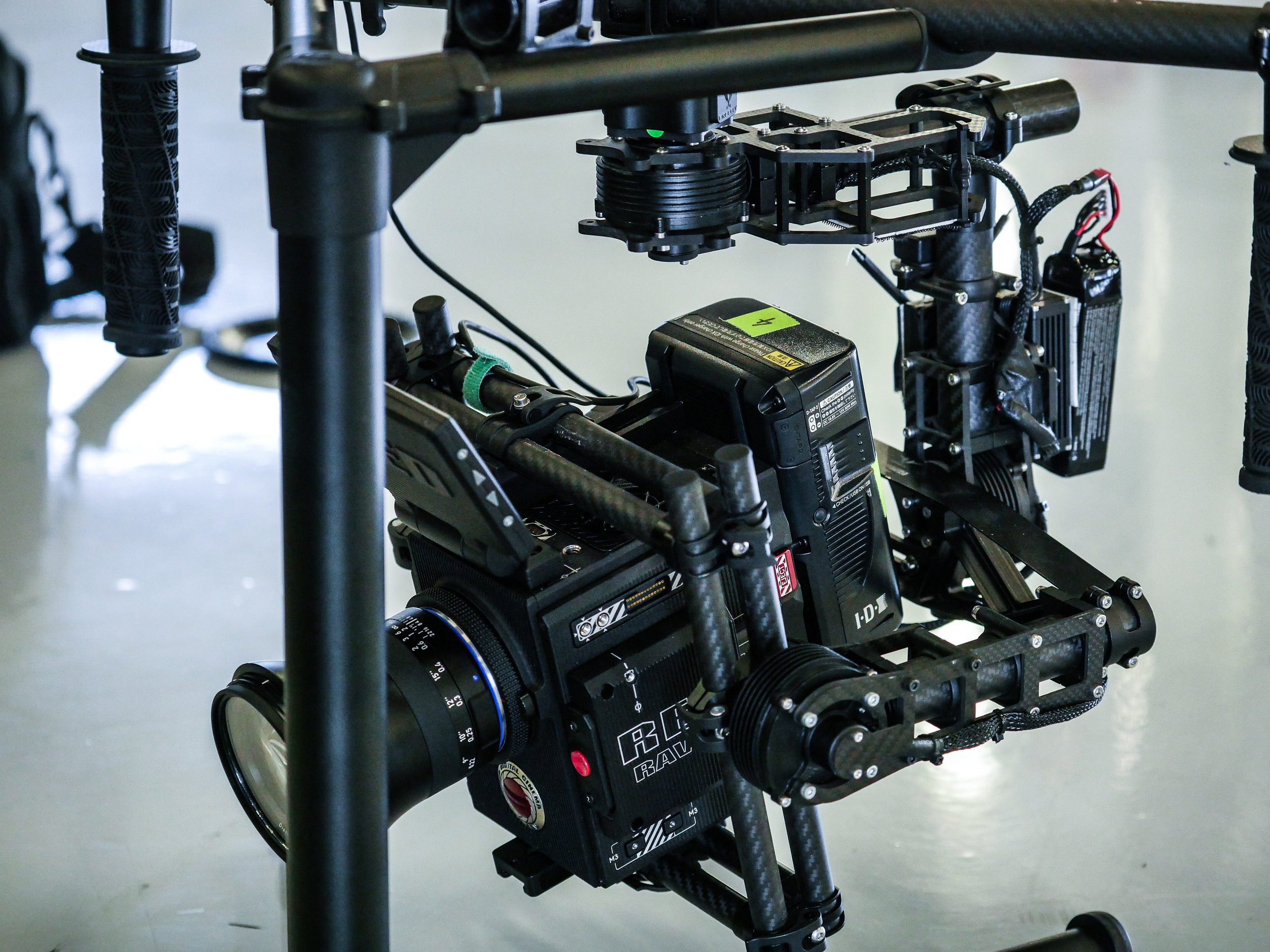 RED Raven Gimbal filming