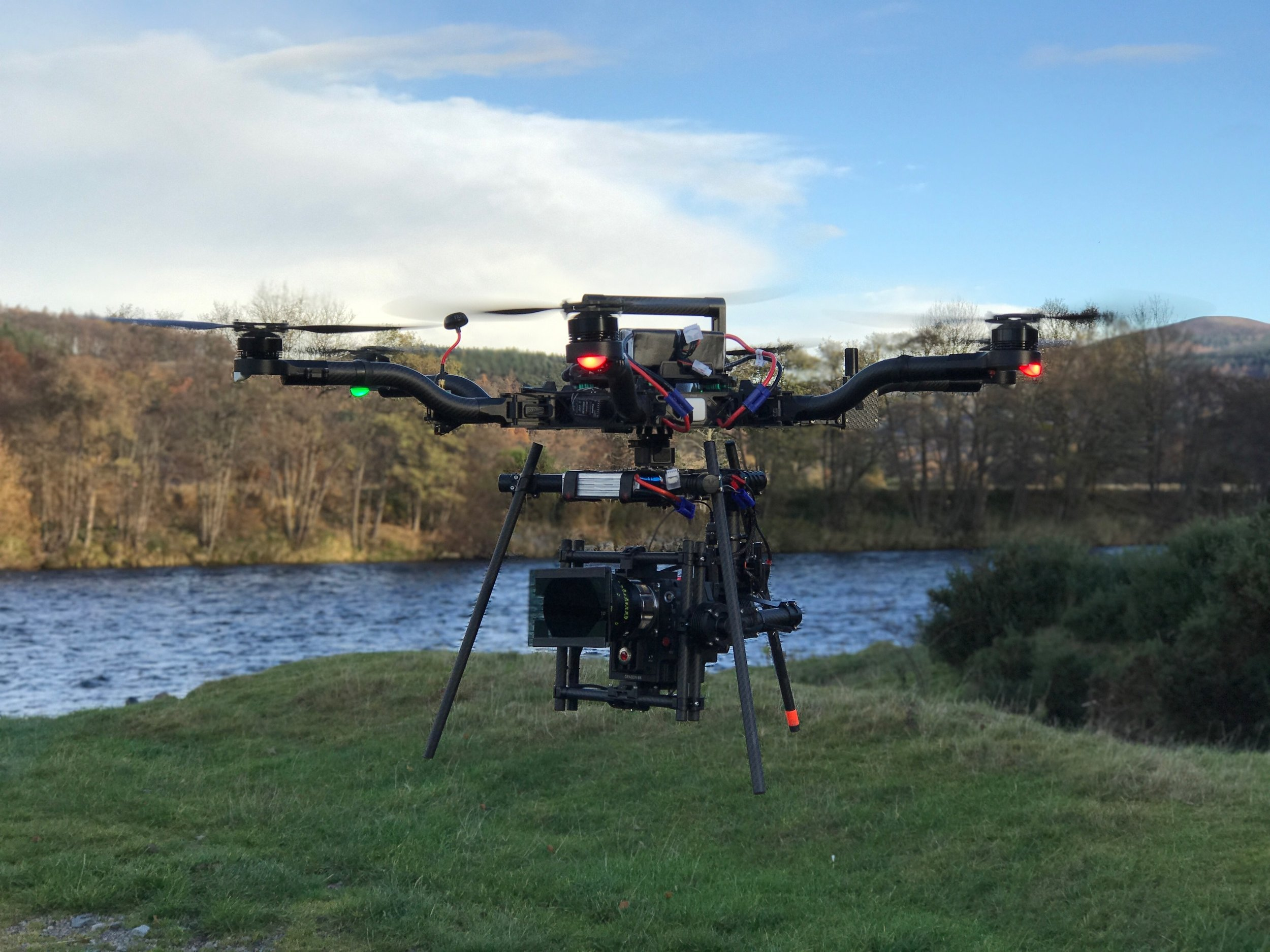heavy lift drone filming
