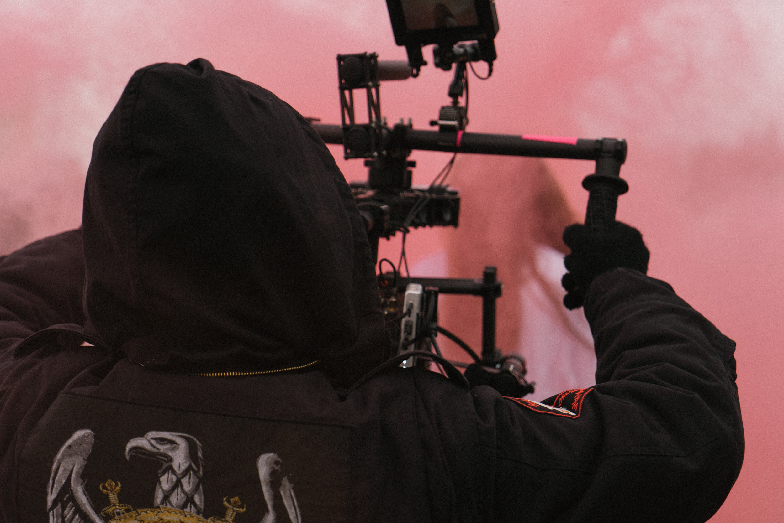 Smoke bombs add an awesome effect to to the shots with director, Lorenzo taking the handles