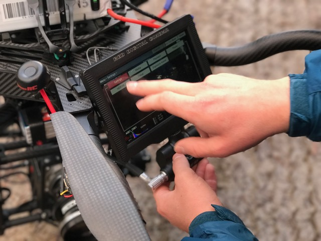 RED epic filming