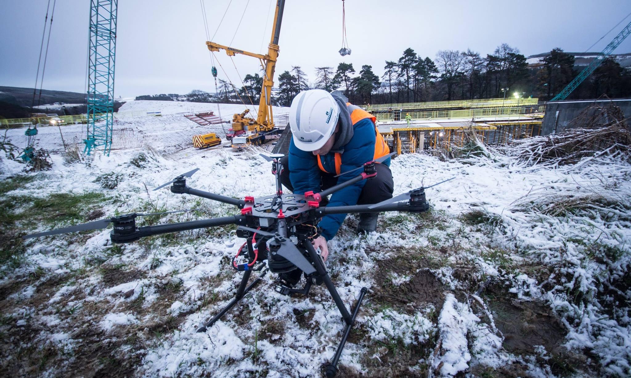 drone filming scotland