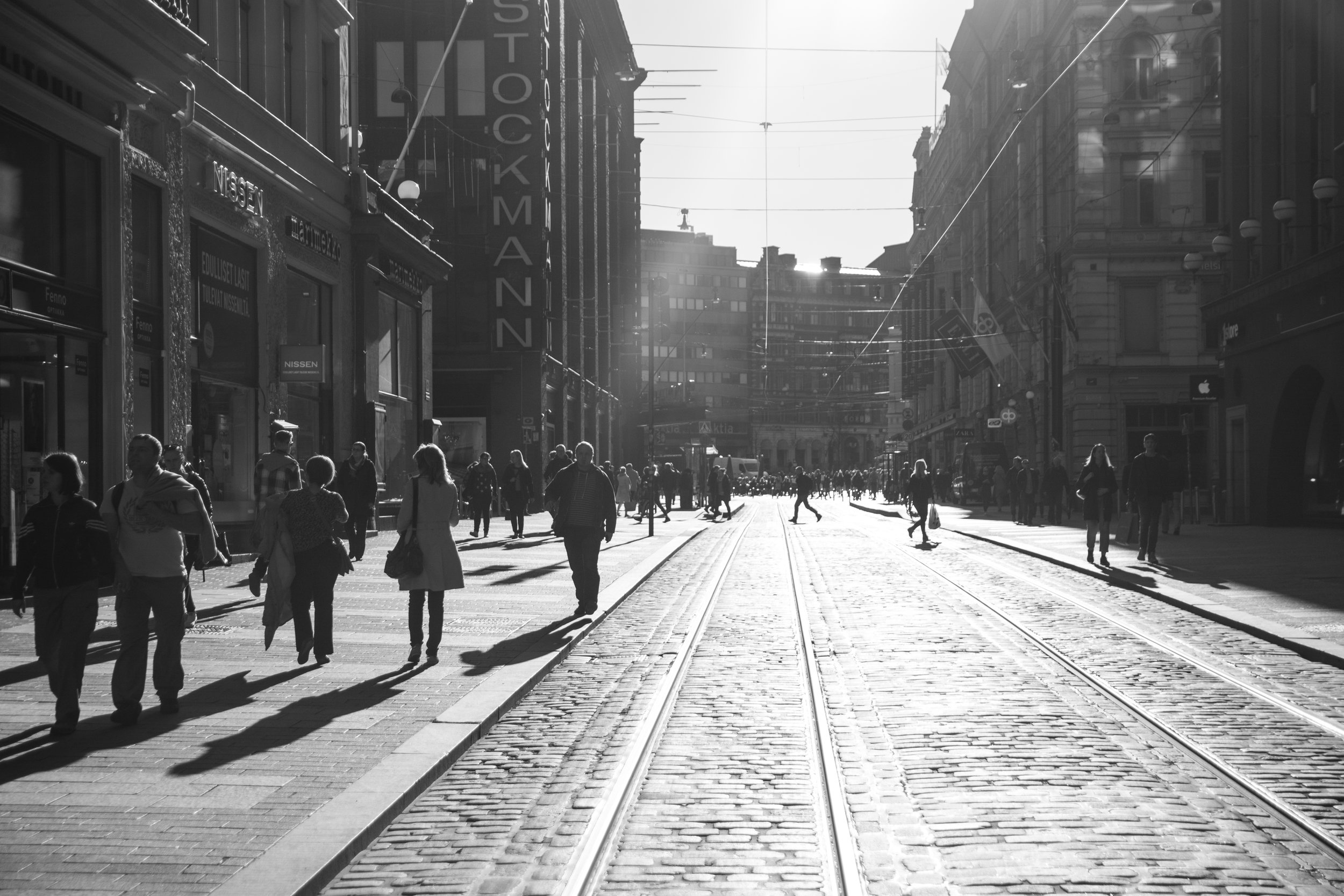 Downtown Helsinki is constantly rated as having one of the highest standards of living in the world.