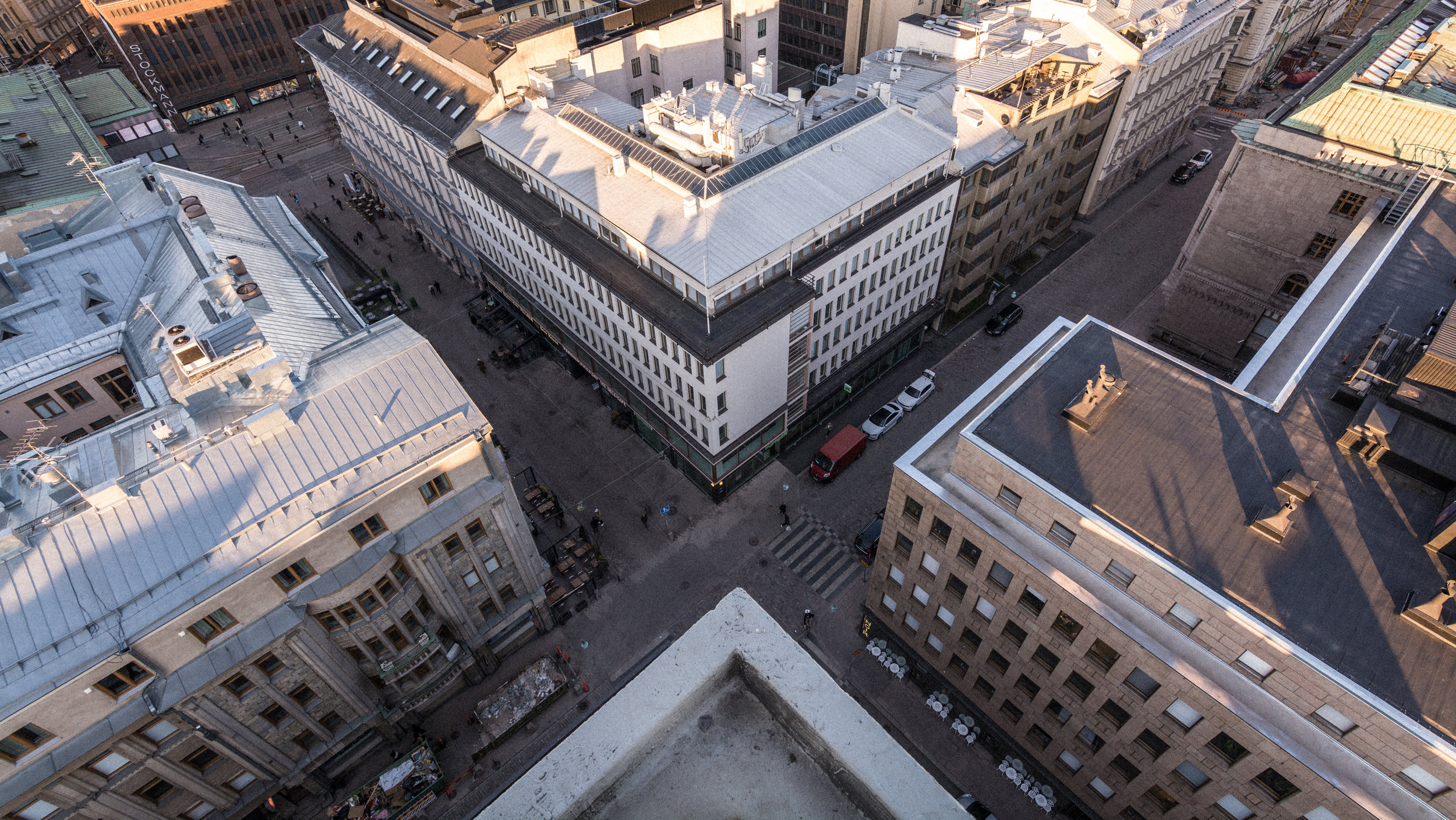 View from rooftop in Helsinki