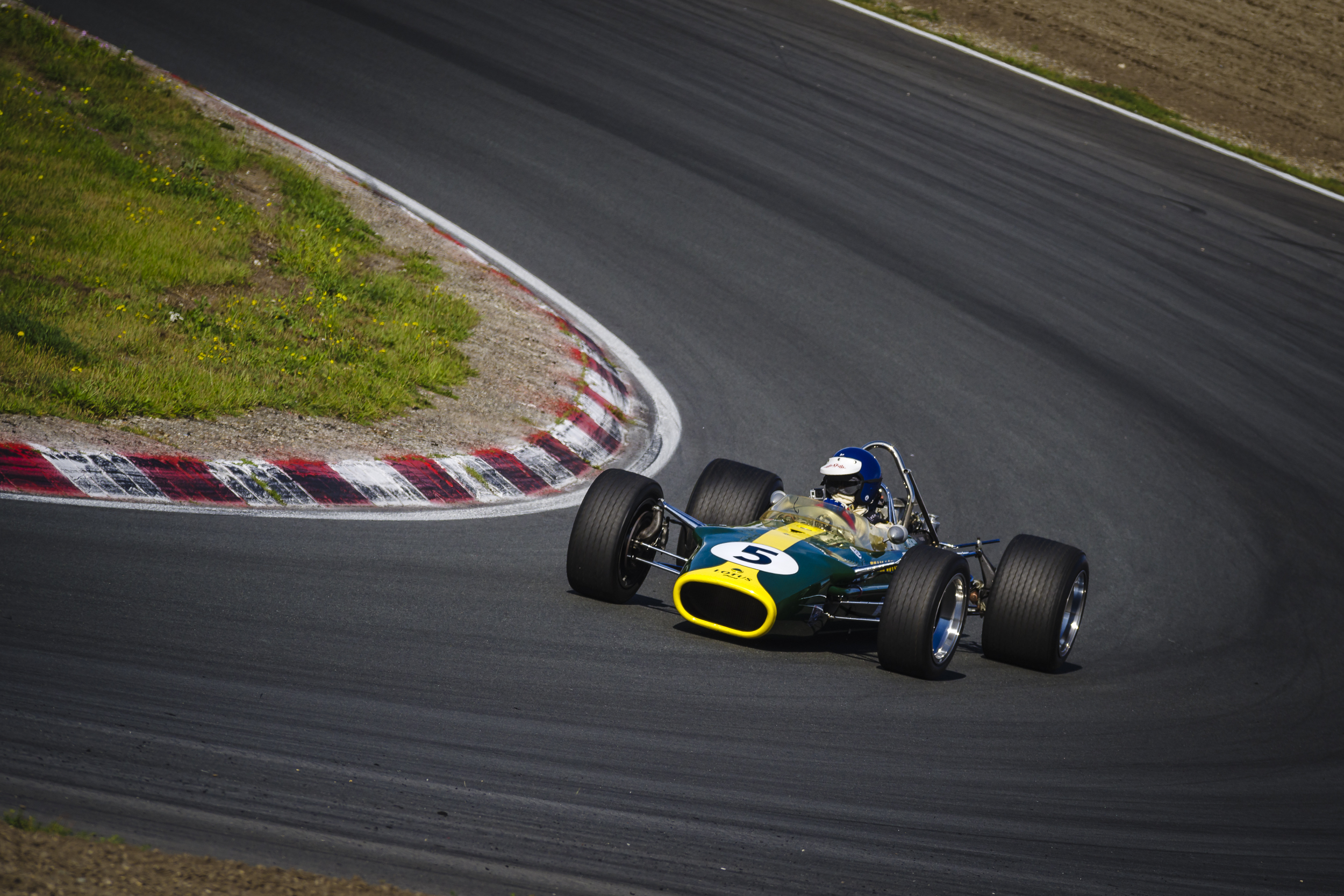 De race winnende Lotus-Cosworth uit 1967 van Jim Clark