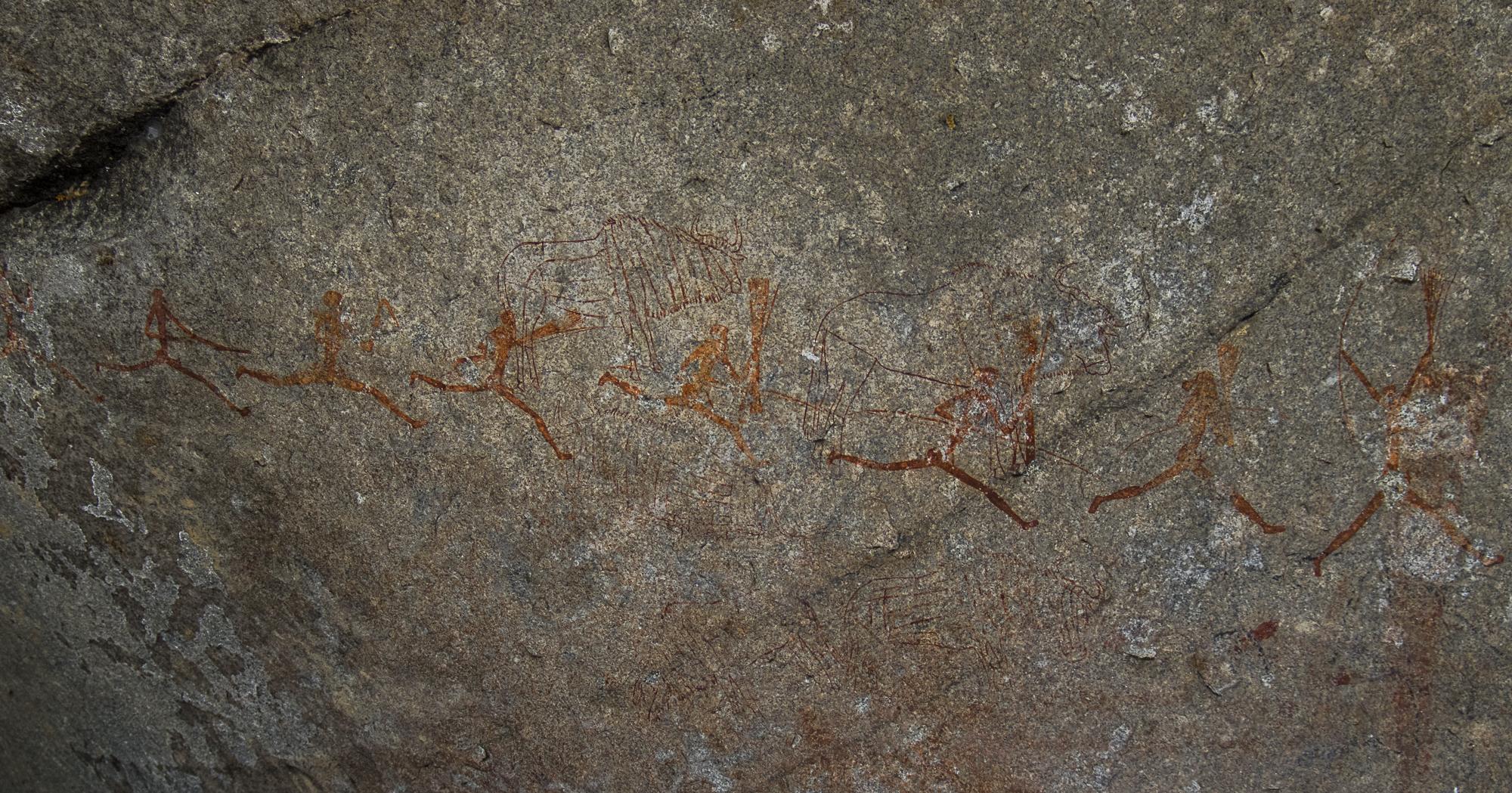 Rotstekeningen in  Matobo National Park