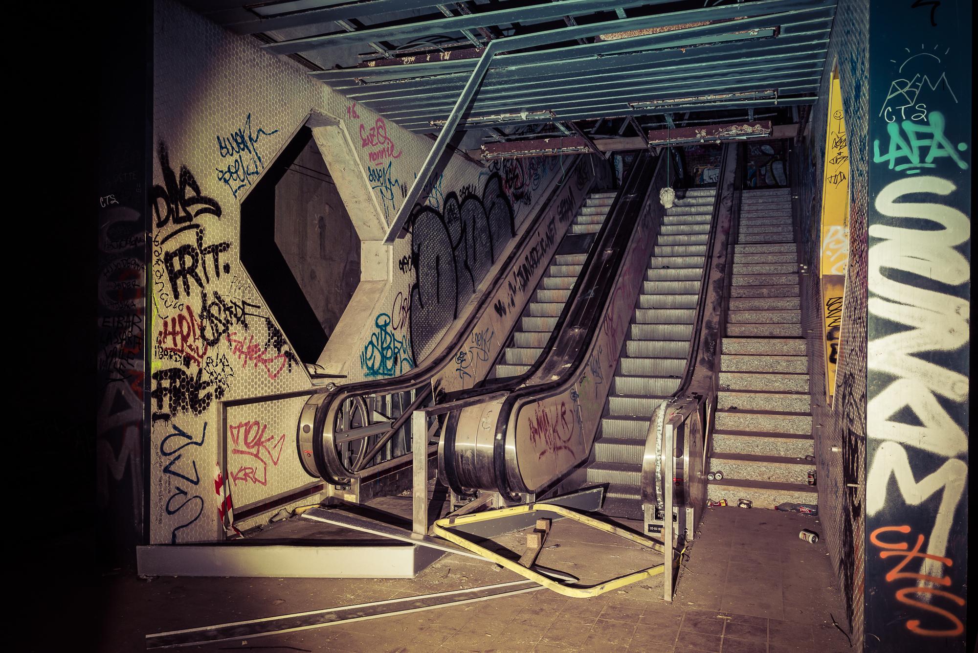 Verlaten metrostation
