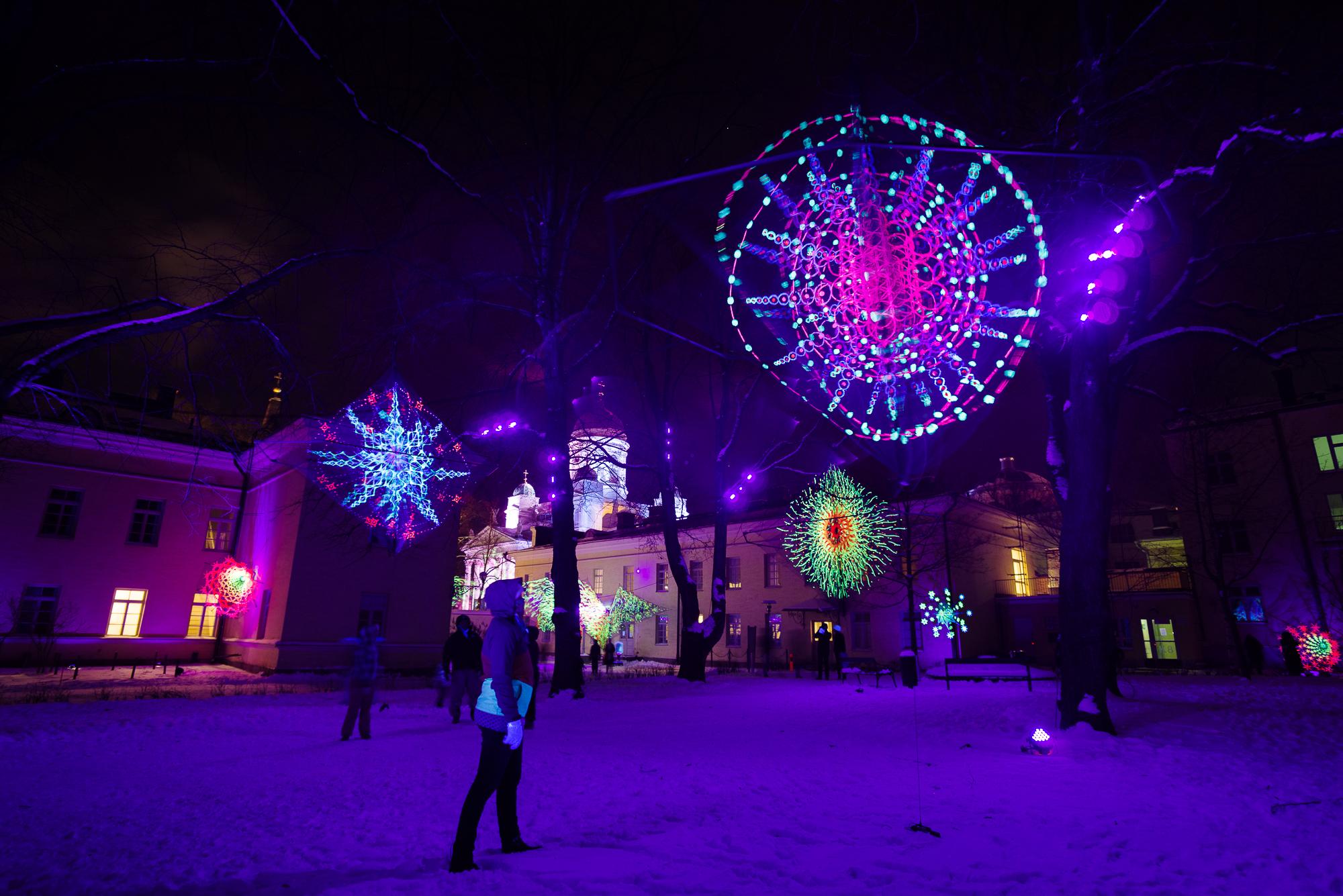 Winterfestival in Helsinki, Finland